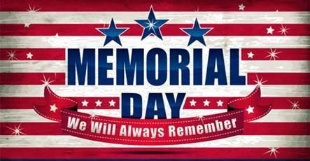 Alert! Memorial Day