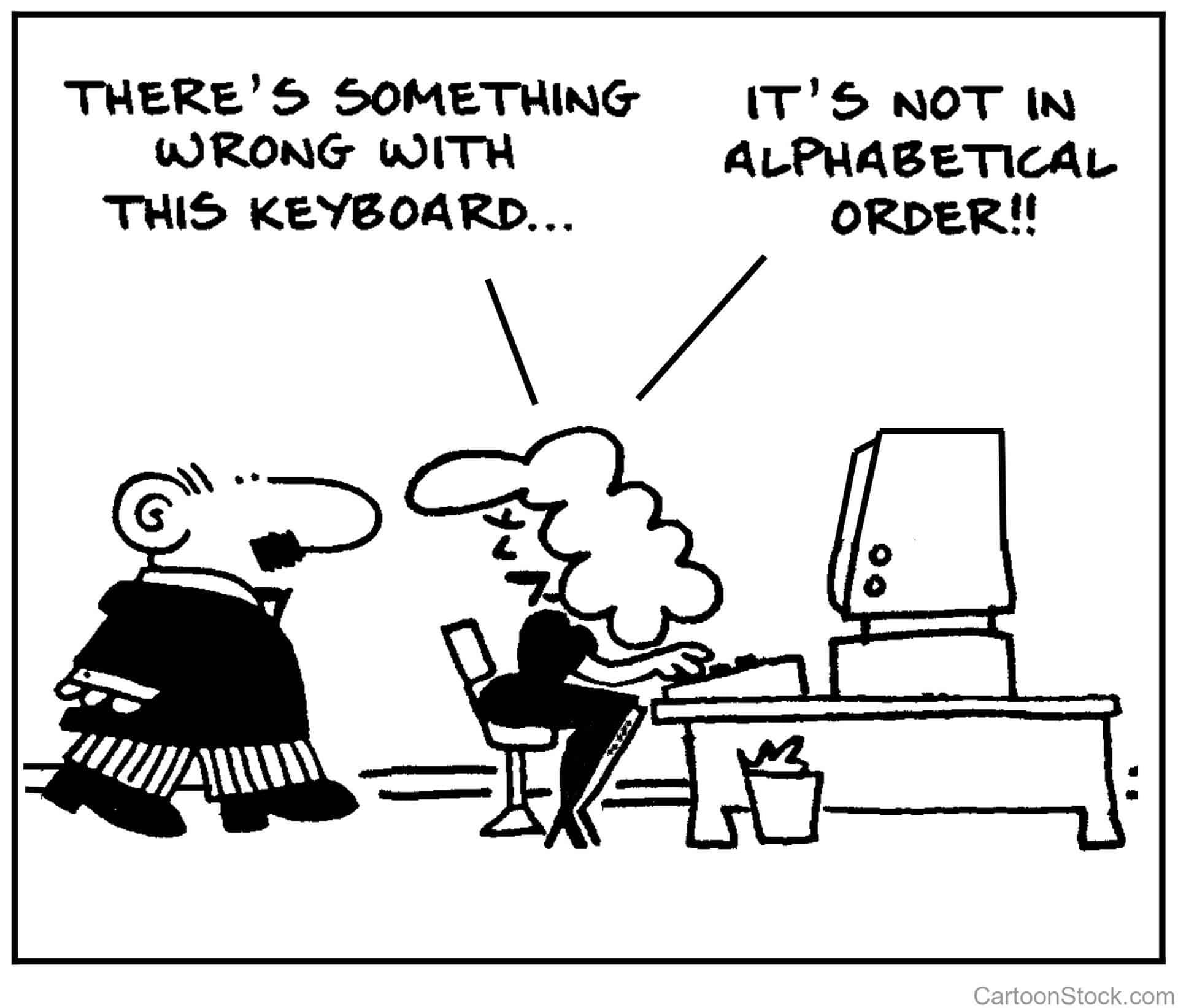 Typing or Pecking?